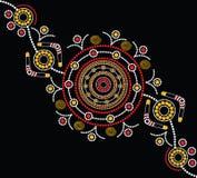 Aboriginal art vector background Stock Photos