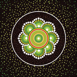 Aboriginal art vector background Stock Image