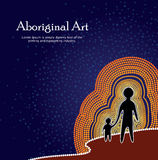 Aboriginal art vector background Royalty Free Stock Photography