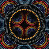 Aboriginal art vector background. Stock Photo