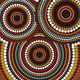 Aboriginal art vector background. Illustration based on aboriginal style of dot painting stock illustration