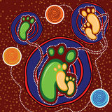 Aboriginal art vector background. Royalty Free Stock Photography