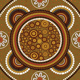 Aboriginal art vector background. Royalty Free Stock Photos
