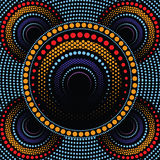 Aboriginal art vector background. Illustration based on aboriginal style of dot painting Royalty Free Stock Photography