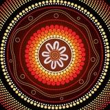 Aboriginal art vector background. Illustration based on aboriginal style of dot painting Stock Photos