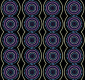Aboriginal art vector background. Royalty Free Stock Images