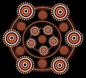 Aboriginal art vector background. Stock Photos