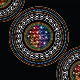 Aboriginal art vector background. Royalty Free Stock Photo
