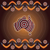 Aboriginal art vector background. Illustration based on aboriginal style of dot painting Stock Images