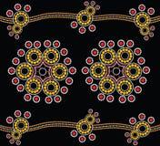 Aboriginal art vector background. Stock Photo