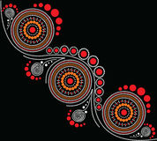 Aboriginal art vector background. Illustration based on aboriginal style of dot painting Royalty Free Stock Images