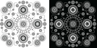 Aboriginal art vector background. Illustration based on aboriginal style of dot painting Stock Photography
