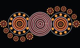 Aboriginal art vector background. Illustration based on aboriginal style of dot painting Stock Photo