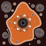 Aboriginal art vector background. Stock Photography