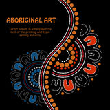 Aboriginal art vector Banner. Illustration based on aboriginal style of banner Royalty Free Stock Photos