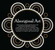 Aboriginal art vector Banner Royalty Free Stock Photography