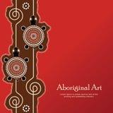 Aboriginal dot art vector Text. Aboriginal art vector banner with text vector illustration