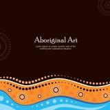 Aboriginal art vector banner with text. Illustration vector illustration