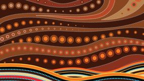 Aboriginal art vector background. Aboriginal art vector illustration based on aboriginal style of dot background stock illustration