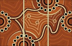 Aboriginal art vector painting. Connection concept royalty free illustration