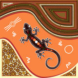 Aboriginal art vector painting. Stock Photo