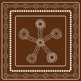Aboriginal art vector painting. Stock Photography