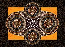 Aboriginal art vector painting,. Illustration based on aboriginal style of dot background royalty free illustration