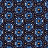 Aboriginal art vector seamless background. Illustration royalty free illustration