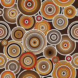 Aboriginal art vector seamless background. Aboriginal dots and circles art vector seamless background royalty free illustration