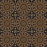 Aboriginal art vector seamless background. Illustration stock illustration