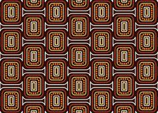 Aboriginal art vector seamless pattern background. royalty free stock photography