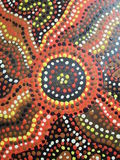 Aboriginal artwork Stock Photography