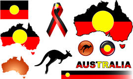 Aboriginal Australia Icons Stock Photo
