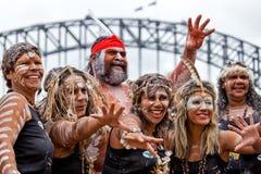 Aboriginal Australians in Sydney Royalty Free Stock Image