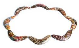 aboriginal Australien bumerang Arkivfoto