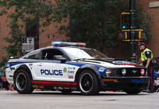Edmonton Police Department Racing Car In K-Days Pa Royalty Free Stock Image