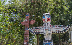 Aboriginal bird sculpture statue Royalty Free Stock Photo