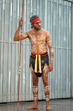 Aboriginal with body paint royalty free stock photo