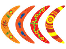 Aboriginal Boomerangs Stock Images