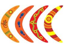 Aboriginal Boomerangs stock images