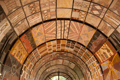 Aboriginal Ceiling Art. Aboriginal art covers the cieling at an indigenour art centre on the Tiwi Islands, Northern Territory, Australia Stock Photos