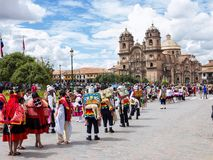 Aboriginal celebrations Cuzco, Peru Royalty Free Stock Image