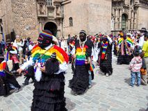 Aboriginal celebrations Cuzco, Peru Royalty Free Stock Images