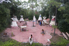 Aboriginal culture show in Disneyland, Walt Disney world stock photos