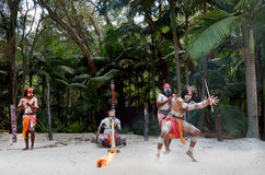Aboriginal culture show in Queensland Australia Stock Photos