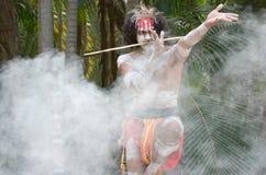 Aboriginal culture show in Queensland Australia. Yugambeh Aboriginal warrior dance during Aboriginal culture show in Queensland, Australia stock images