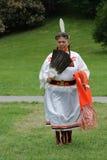 Aboriginal Dancer. A dancer in full regalia participates in a powwow. The dancer is an elder. National Aboriginal Day Powwow June 17, 2008 in Abbotsford, British Stock Photos