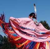 Aboriginal Dancer At Edmonton's Heritage Days 2013 Stock Photo