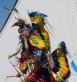 Aboriginal Dancer At Edmonton's Heritage Days 2013 Royalty Free Stock Images