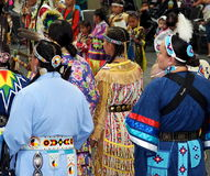 Aboriginal Dancers At Pow Wow Stock Photo